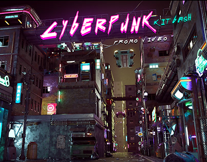 Cyberpunk kitbash (promo video)