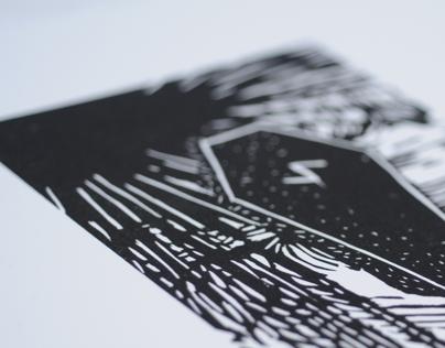 """Untitled"" Linocut Print"
