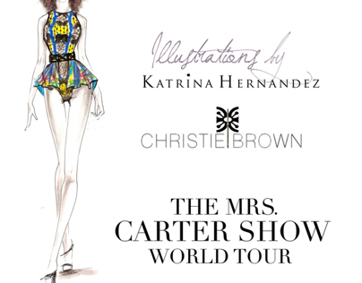 KH + Christie Brown for The Mrs.Carter Show World Tour