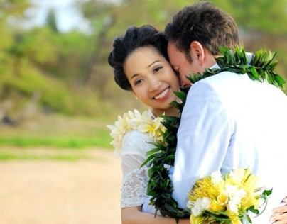Maui Wedding, Po'olenalena Beach: Mr. and Mrs. McElwee