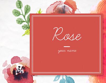Souvenir & Postcards Design : Rose