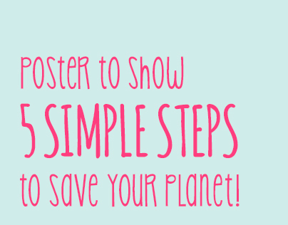 5 Simple Steps to Save the Planet
