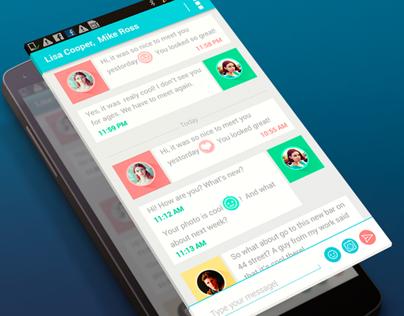 Dialog screen