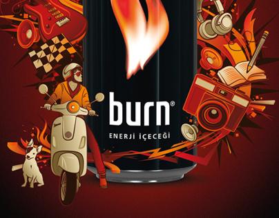 Burn print ad