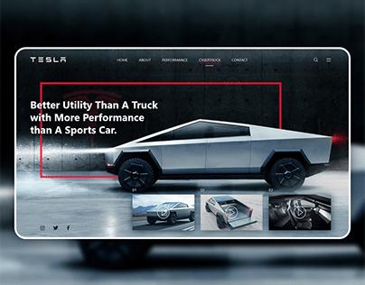 Tesla Cyber Truck | Landing Page