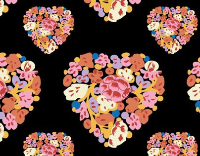 Heart Flower Pattern