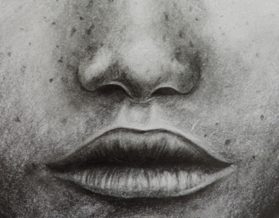b&w faces. Only pencil
