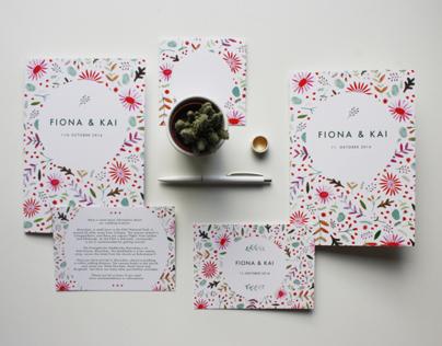 PAPETERIE – Wedding Invitation Fiona & Kai