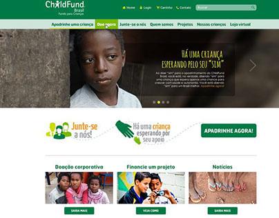 Novo site ChildFund Brasil - 2014