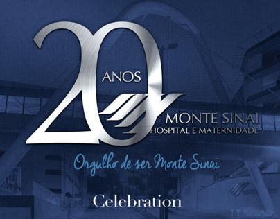 Cartaz Festa 20 anos Hospital Monte Sinai