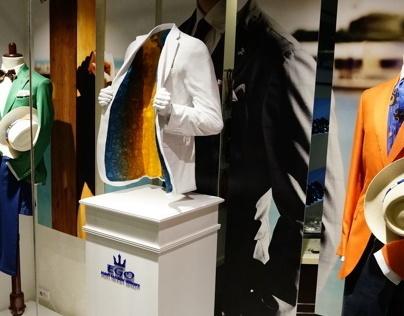 Ego man's fashion - windows display by glamshops.net