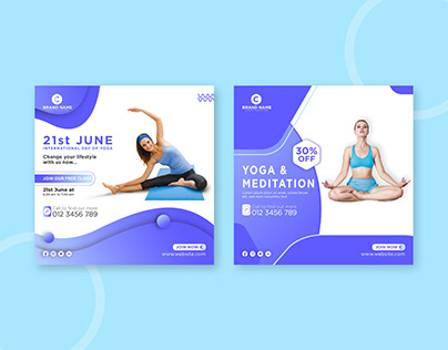 International day of yoga social media post template