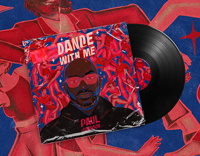 DANCE WITH ME by PAUL JOHNSON   Music Cover Design