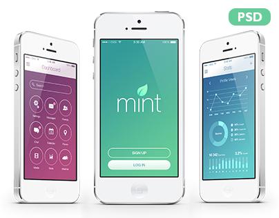 Delicious Mobile App UI PSD