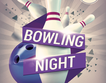 bowling night flyer template v2 on behance. Black Bedroom Furniture Sets. Home Design Ideas