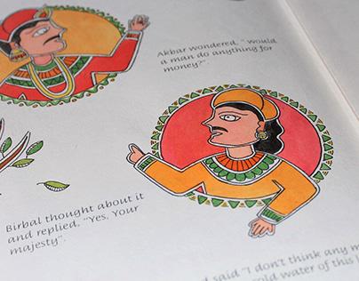 Birbal's Khichdi - Story illustrated in Madhubani style