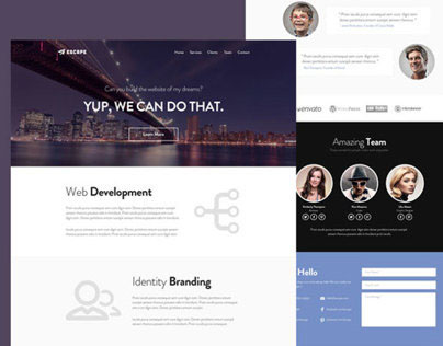 Escape - One Page Web Template