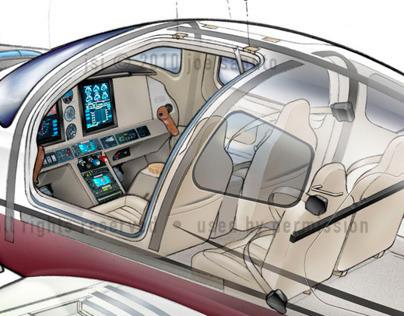 Cessna 400 TT  See-through Illustration