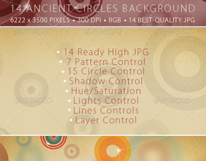 Ancient Circle Background - 14