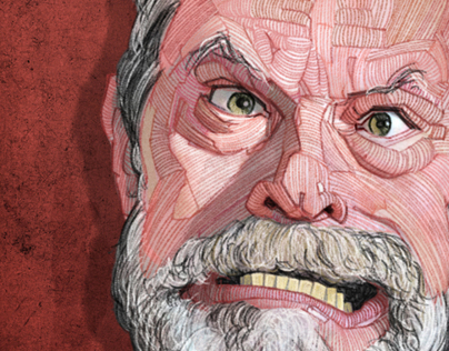 Terry Gilliam & Wes Anderson editorial illustrations