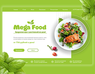 Healthy Food Delivery Landing Page