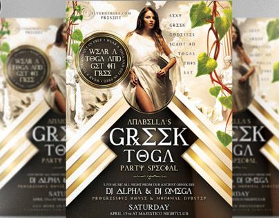 Greek Toga Flyer Template