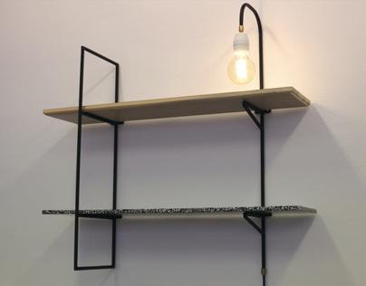Etagère / Lampe