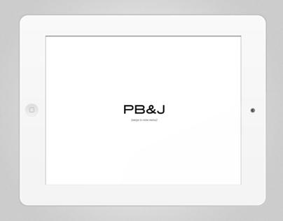 PB&J iPad Menu | UX/UI