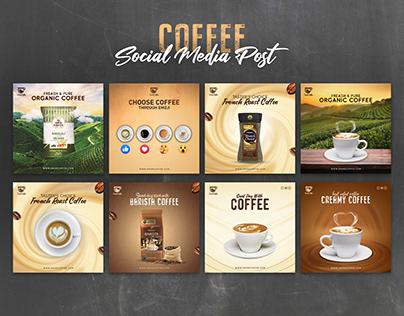 Coffee Social Media Post Banner Design