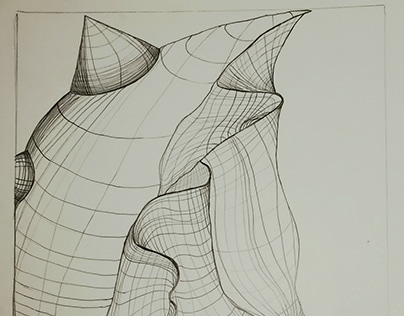 Crumpled Graph Paper Remix