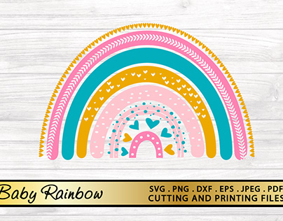 Rainbow SVG PNG EPS DXF Baby SVG Cut file