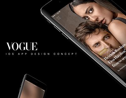 VOGUE ios app design concept