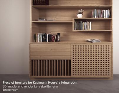 3D model+render. Furniture for Kaufmann House