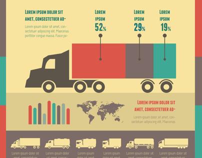 Transportation Flat Infographics Templates