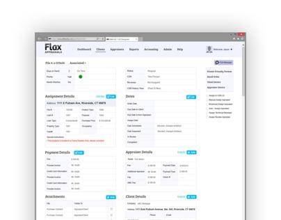 Flax WebApp UI/UX