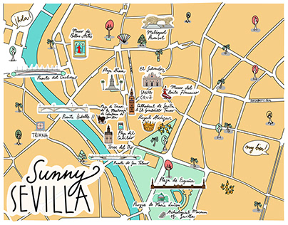 Sevilla Illustrated Map