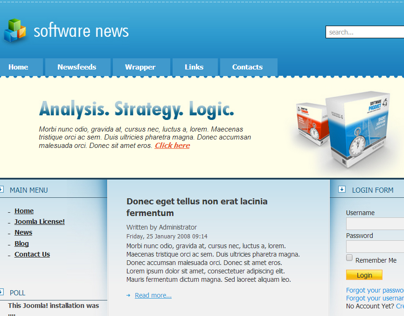 Software News Joomla Template