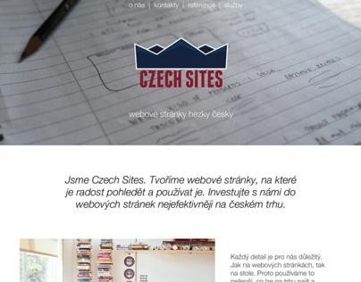Czech Sites | One page portfolio website