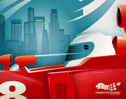 Singapore F1 Grand Prix Posters