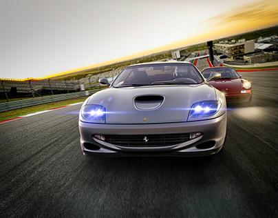 Ferrari 550 Maranello vs Porsche Singer I CGI
