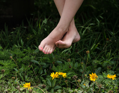 where her feet goes