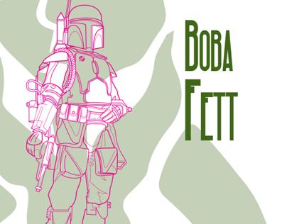 Boutny Hunter Art Print aka Boba Fett Print