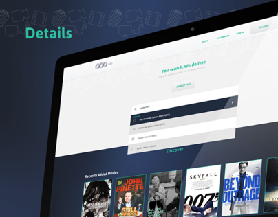 Concept for a music and video streaming website