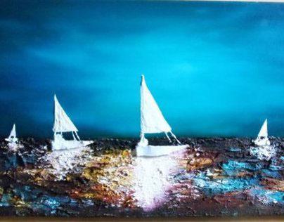 Twilight in the Mediterranean.
