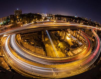 New York Bridges at night