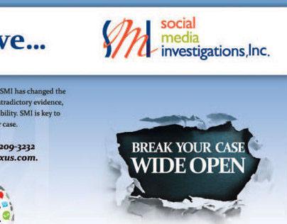 Half Fold Brochure for Social Media Investigations