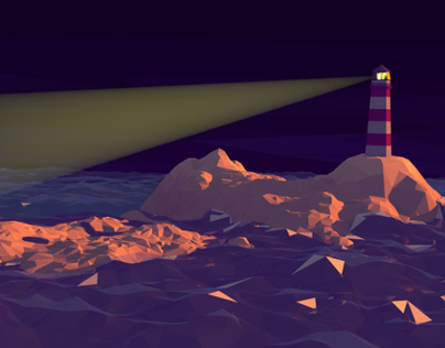 Lighthouse // low poly illustration