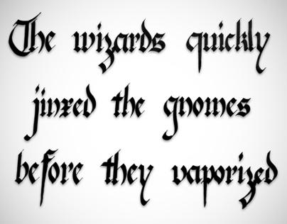 Calligraphy (Pangram)