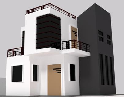 3D House Modeling & Floor Planing