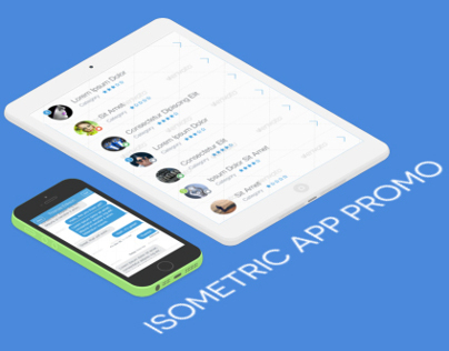 Flat Isometric App Promo